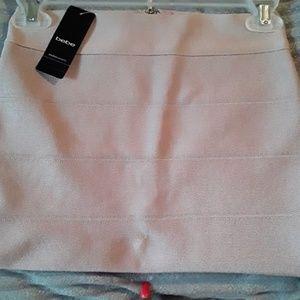 Bebe Solid Bodycon Skirt